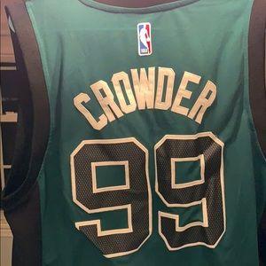 detailed look 54b37 c86bc Jae Crowder Celtics Jersey